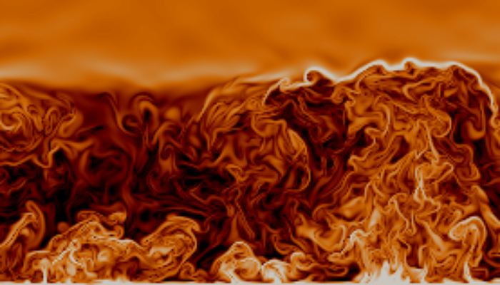A simple model of convection to study the atmospheric surface layer
