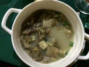 Cow stomach soup: best served not at all (photo credit: Joshua Dean).