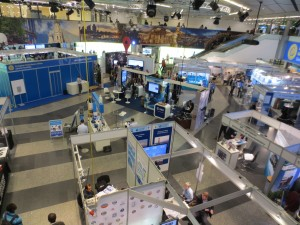 The exhibition hall where delegates can peruse the latest journals, textbooks, and equipment. And buy their ice creams!