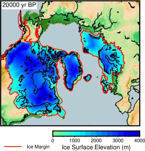 Reconstructing ice sheets and topography of the past