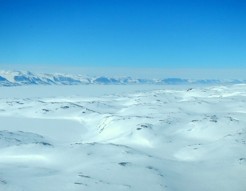 View of East Greenland fjord