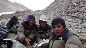 Local Tibetan people at Naimona'nyi glacier. Credit: Benjamin Schröter.