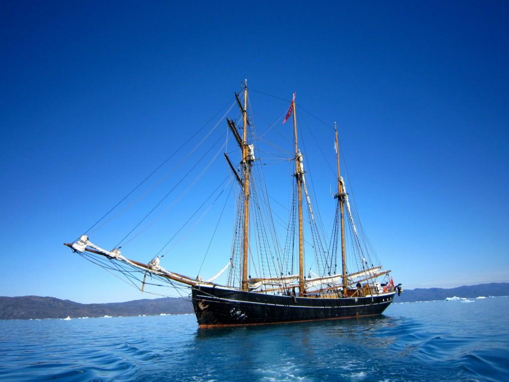 "The majestic arctic schooner ""Activ"" (Credit: A.-K. Faber)"