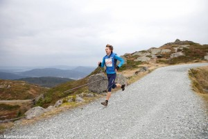 Erlend, the Northern runner, in the Norwegian mountains. (credit : Varegg Fleridrett.)