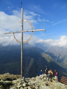The cross on Kreuz Spitze. (Credit: I. Nias)