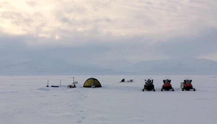 Camping on the Svalbard coast