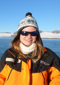 Sammie Buzzard in her more usual surroundings as a sea ice scientist. Credit: S. Buzzard.
