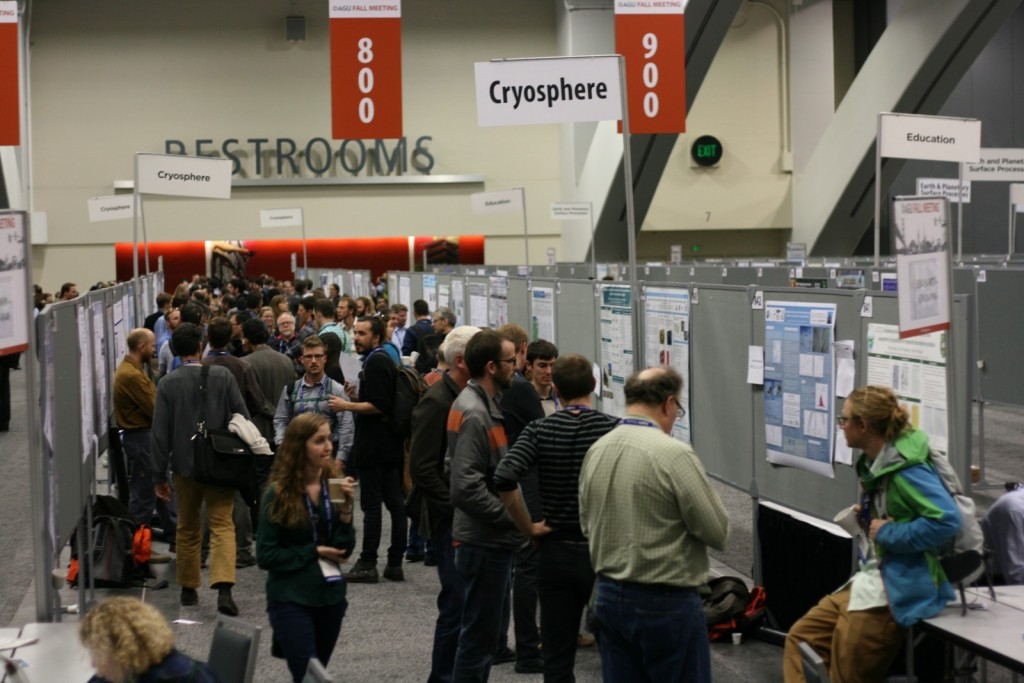 Busy poster session on the Cryosphere. (Credit: Konstantinos Petrakopoulos)