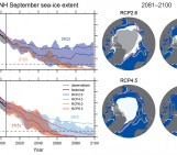Image of the Week — Future Decline of sea-ice extent in the Arctic (from IPCC)