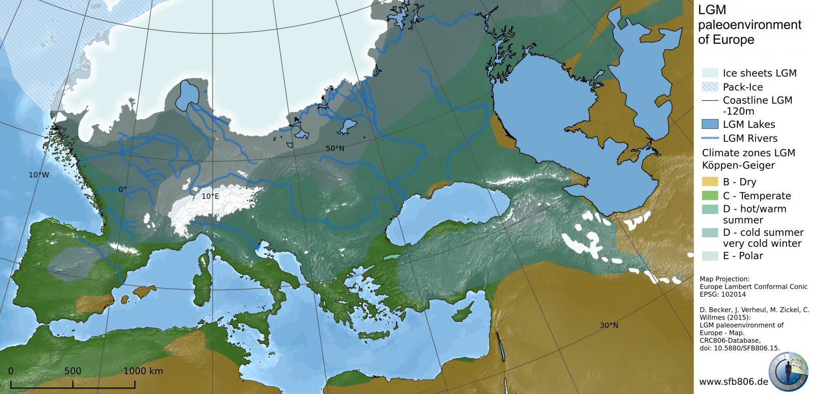 North Sea Europe Map.Cryospheric Sciences North Sea