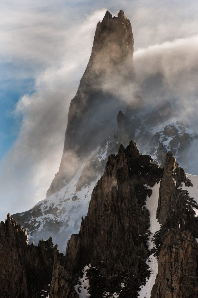 Steep peak in the Mont Blanc Massif. Thawing permafrost can cause fatal rockfalls. Photo credit: Christian Massari (Imaggeo)