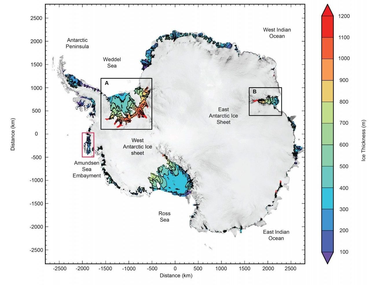 Cryospheric sciences conference antarctic ice shelf thickness derived from cryosat 2 radar altimetry credit subset of fig s1 from chuter and bamber 2015 fandeluxe Gallery