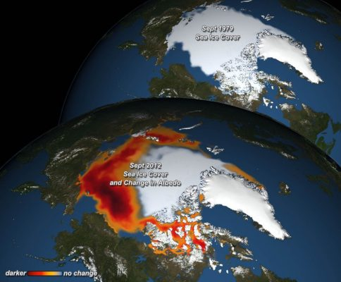 Image of the week — The warming effect of the decline of Arctic Sea Ice