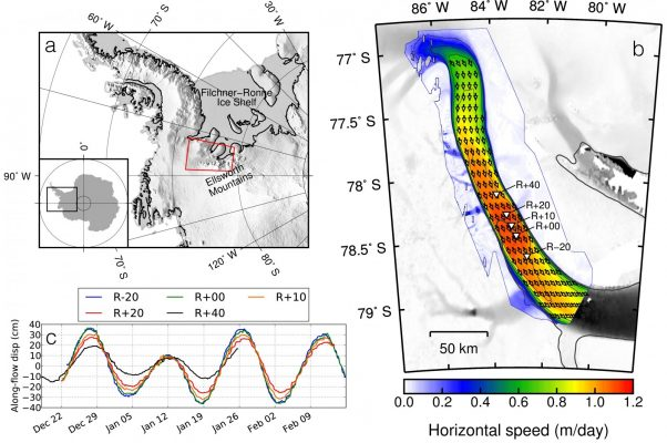Image of the Week – How ocean tides affect ice flow