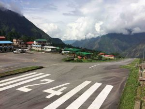 Tenzing-Hillary Airport in Lukla, at an altitude of 2,845 m [Credit: D. Rounce]