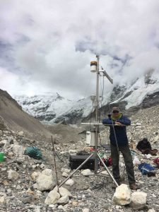 utomatic Weather Station on Imja-Lhotse Shar Glacier [Credit: D. Rounce]