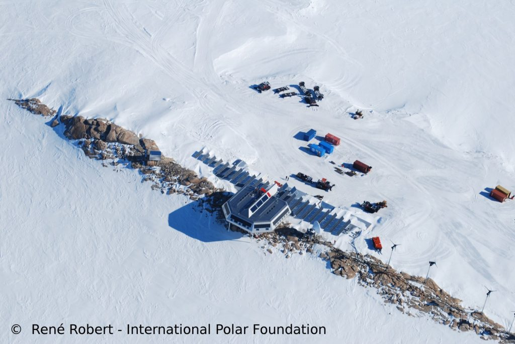 Princess Elisabeth Station, (Dronning Maud Land, East Antarctica). This seasonal station is located hundred of kilometers from the
