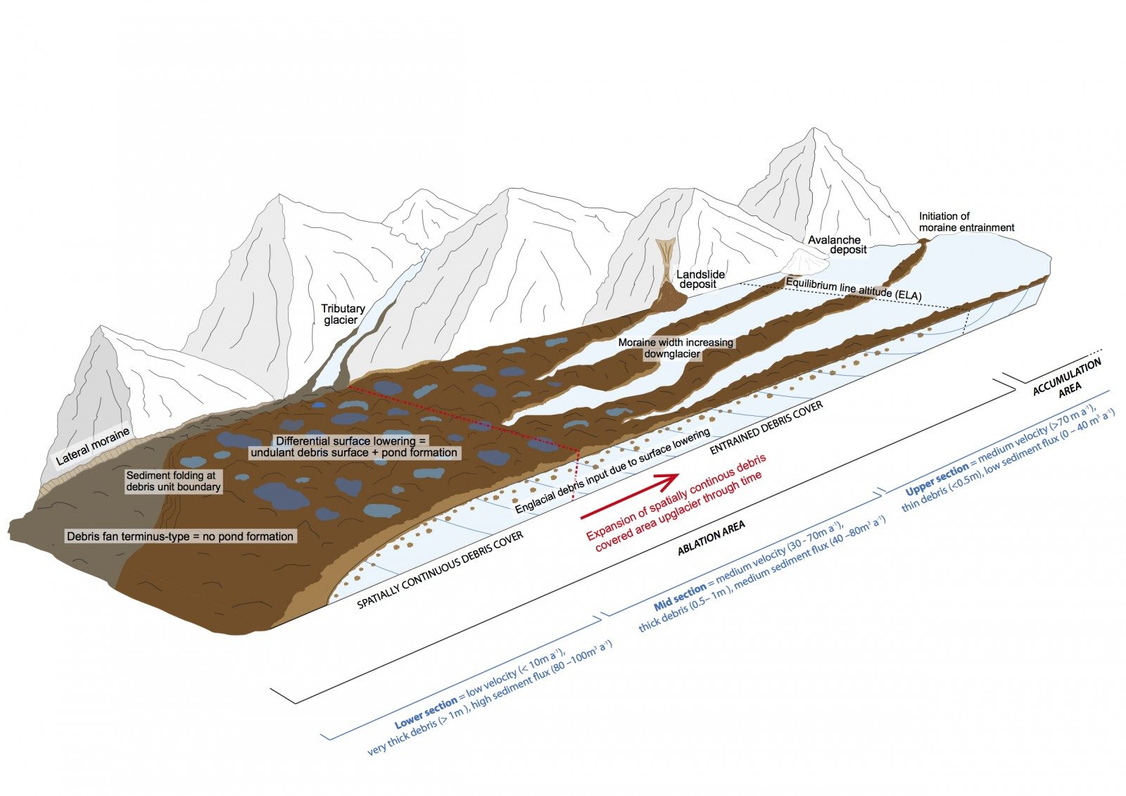 Image of the Week – Supraglacial debris variations in space and time!