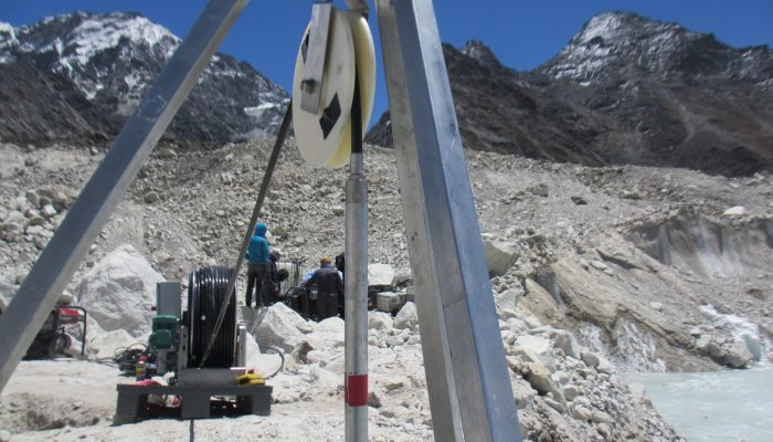 Image of the Week – Drilling into a Himalayan glacier
