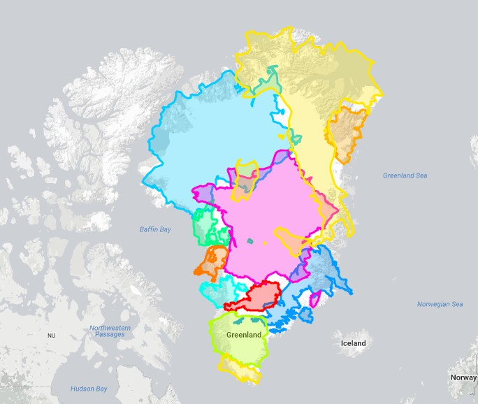 Cryospheric Sciences | Image of the Week – The true size of Greenland