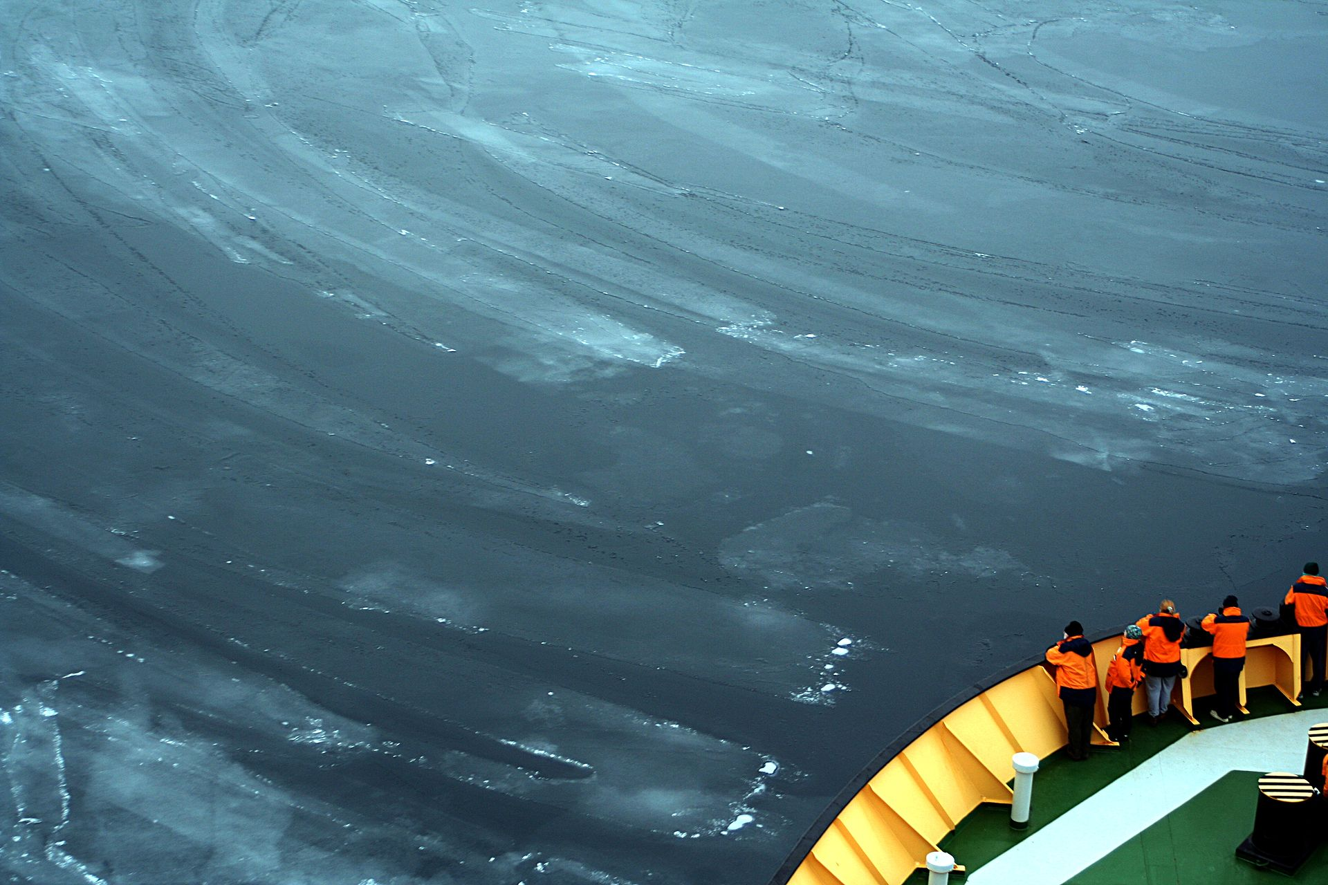 474d4b7b4a Nilas or thin sheets of sea ice [Credit: Brocken Inaglory (distributed via  Wikimedia Commons) ]