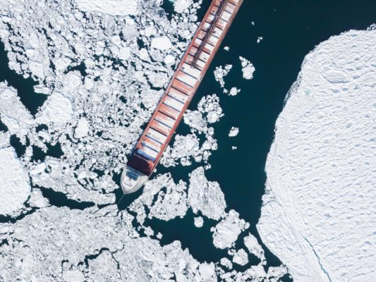 Mapping sea ice from space