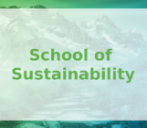 Let's go to School of Sustainability!