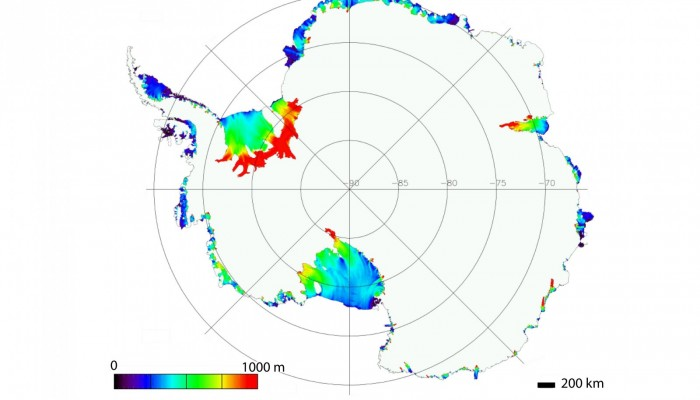 Image of the Week: Antarctic ice-shelf thickness