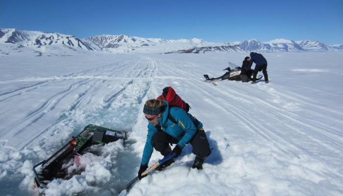 Image of the Week — slush on top of sea ice