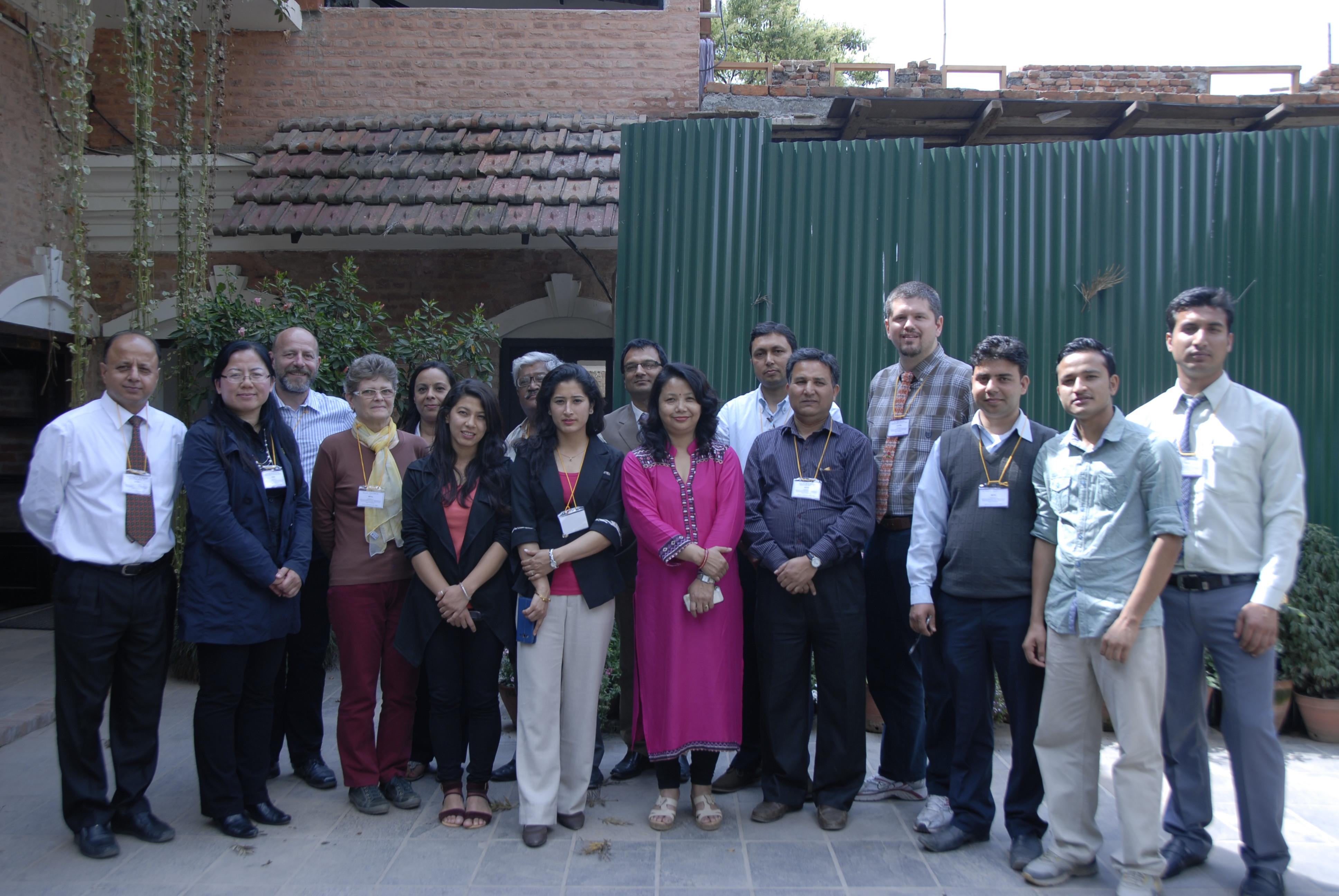 Participants of the project kick-off workshop in Kathmandu (by Prof. Dr. Klaus Katzensteiner)