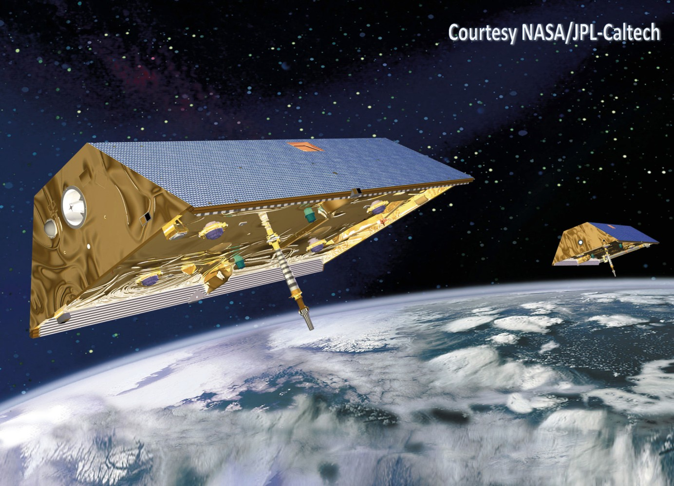 The GRACE twin satellite are accurately mapping tiny perturbations of the Earth's gravity field since 2002