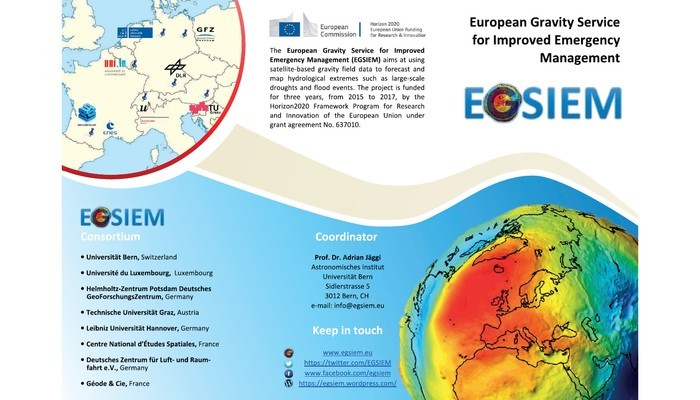 EGSIEM wants to use GRACE gravity field data for operational flooding and drought management