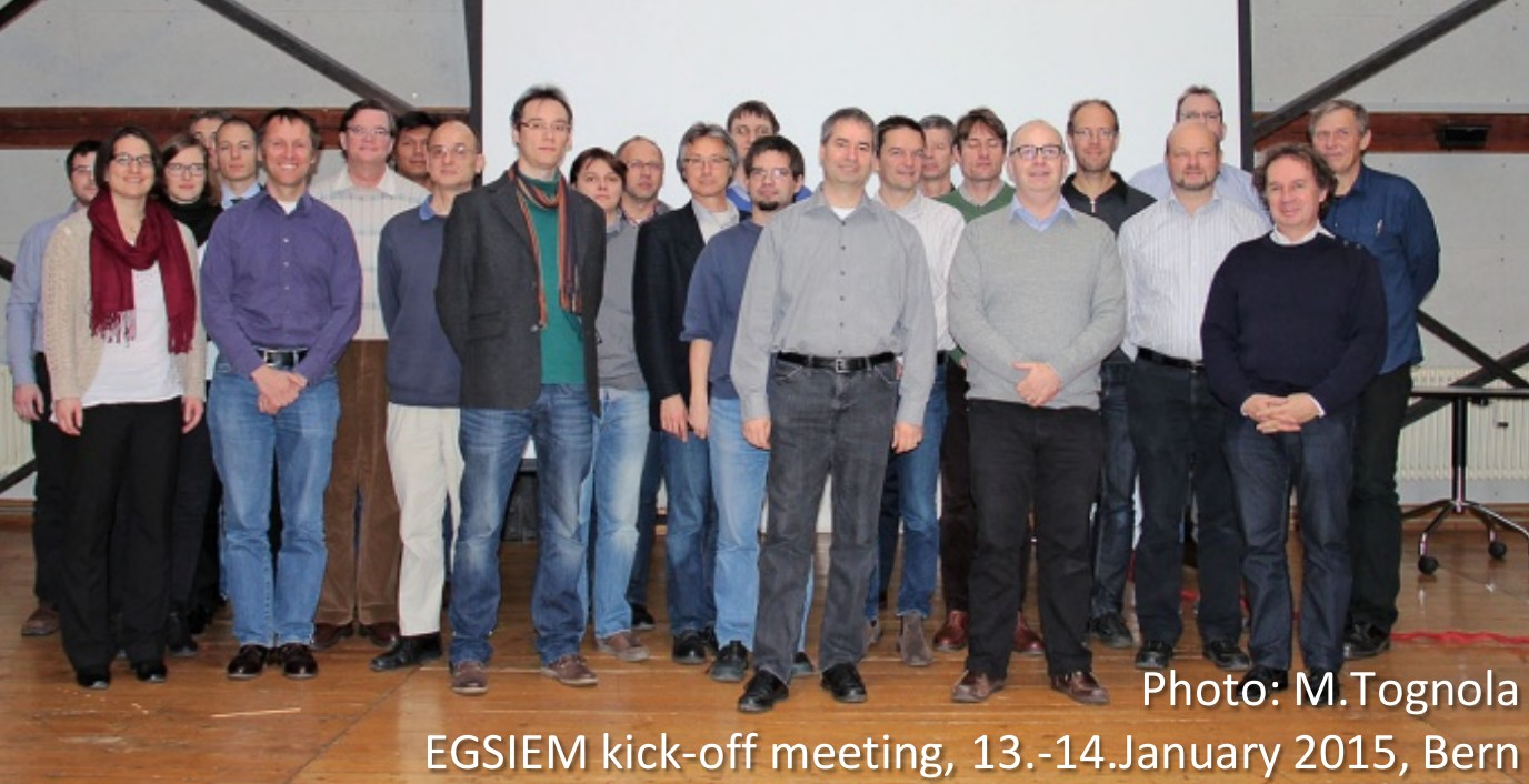 Keith Cann-Guthauser (front row second right) and Adrian Jäggi (front row left) are based at the Astronomisches Institut, Universität Bern.
