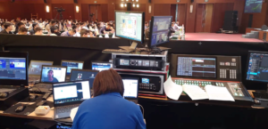 A look at the technical side of a hybrid conference.