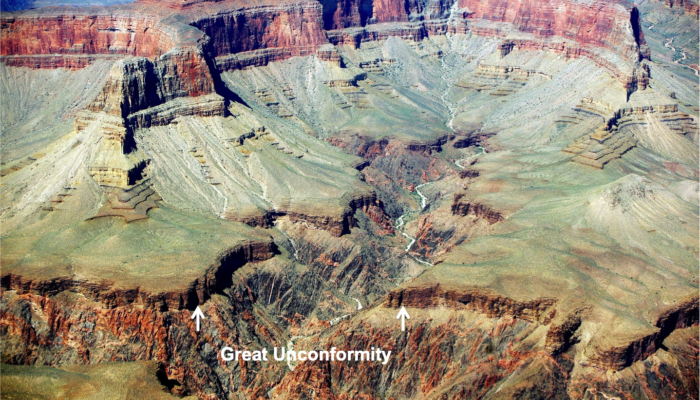 Great Unconformity - Immensity River, Grand Canyon