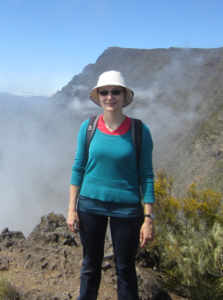 Eva Bredow at Réunion caldera.