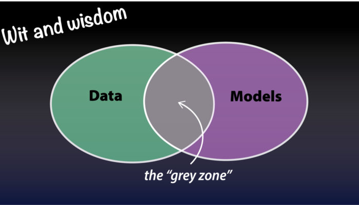 The conundrum posed by data and models