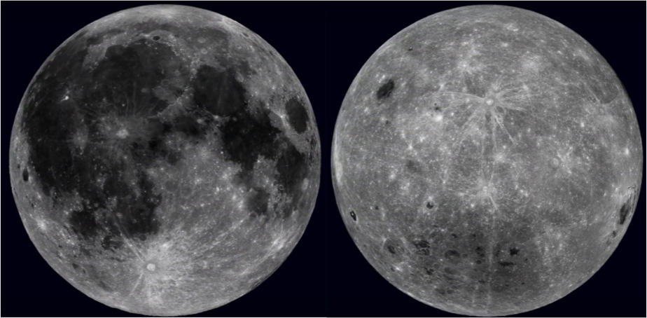 moon far and near sides