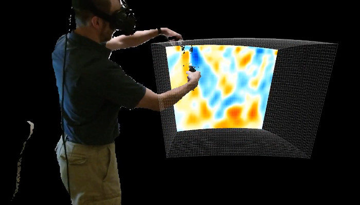 Interactive and Collaborative Virtual Reality Visualization for Geodynamics