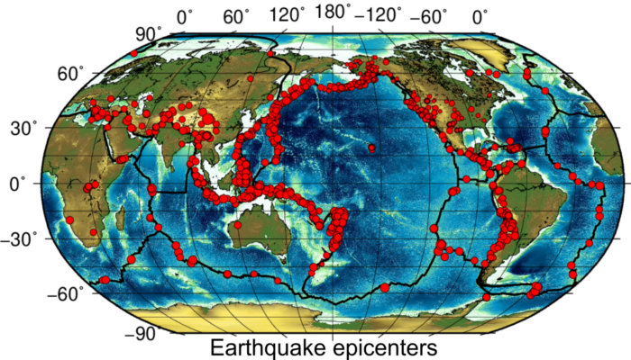 Earthquakes within the plates
