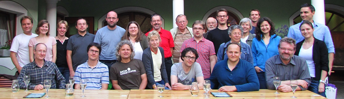 "Yearly meeting 2013 – Dinner at a Lower Austrian ""Heurigen"" (Wine restaurant) (Credit: Helene Petschko)."