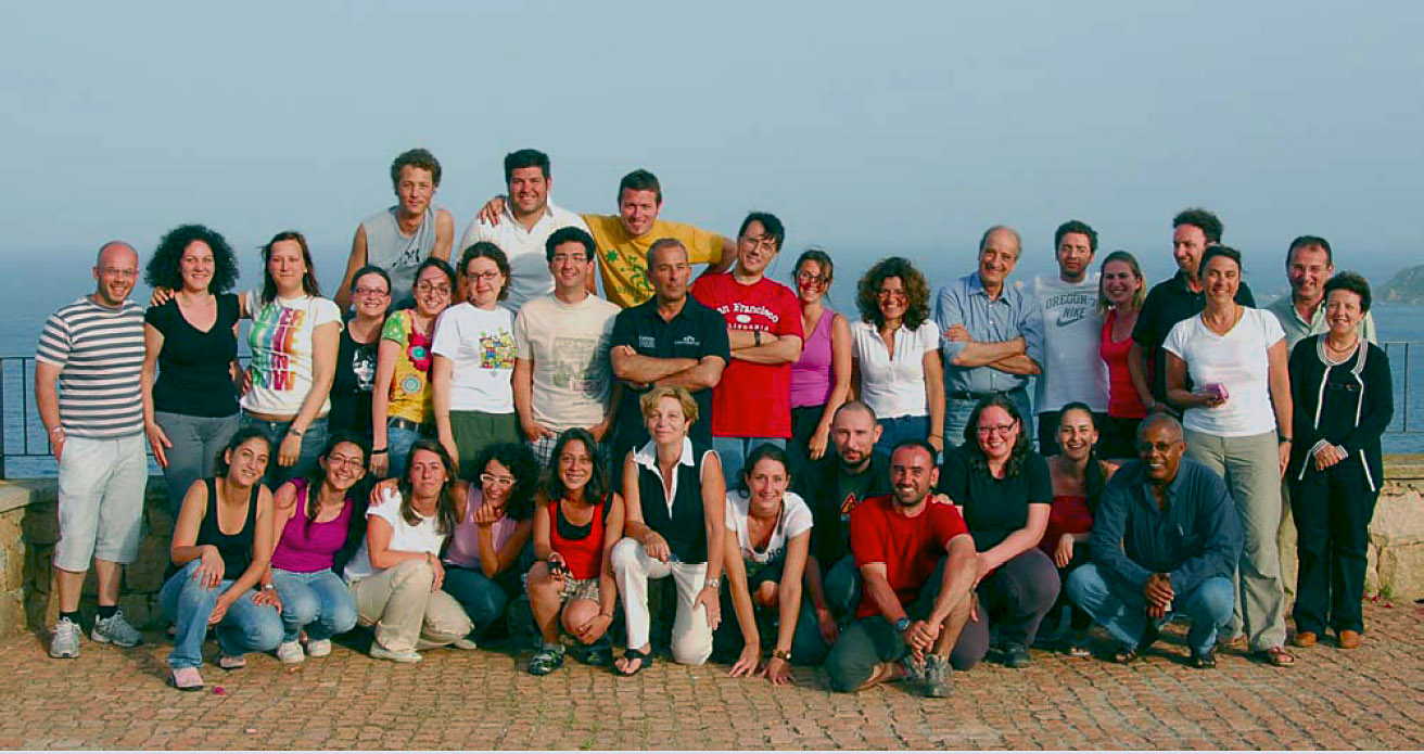 "The ""Giovani Geomorfologi Italiani"" Group (Credit: Irene Bollati and Francesca Vergari)"