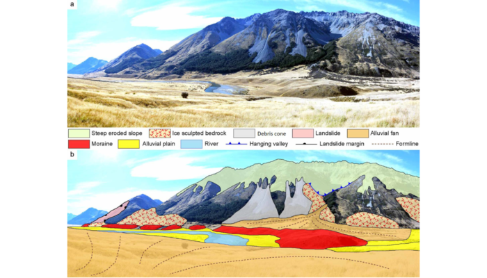 The new glacial geomorphological map from New Zealand