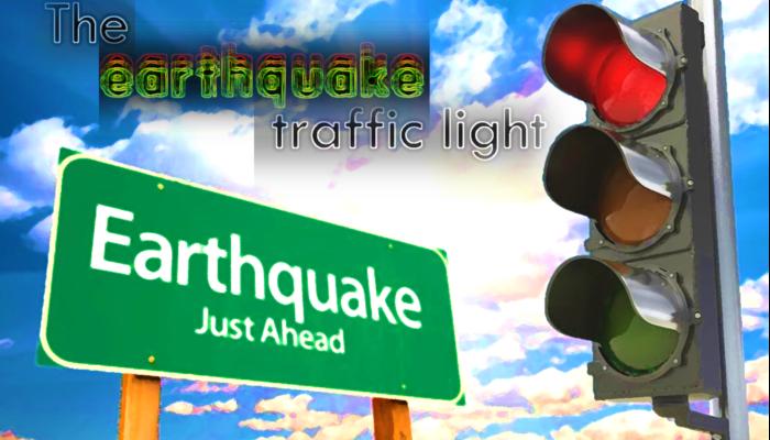 The earthquake traffic light