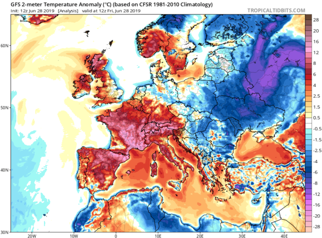 June Heatwave 2019: can we attribute the event to anthropogenic emission?
