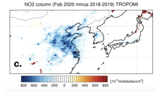 COVID-19-related drop in anthropogenic aerosol emissions in China and corresponding cloud and climate effects