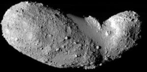 Picture of the asteroid Itokawa when visited by the Hayabusa spacecraft. Credit; JAXA