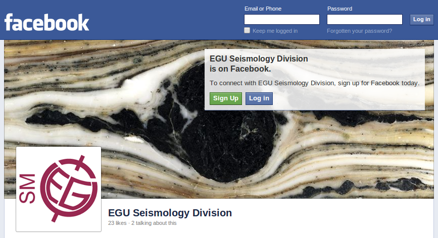 The EGU Seismology Division Facebook page