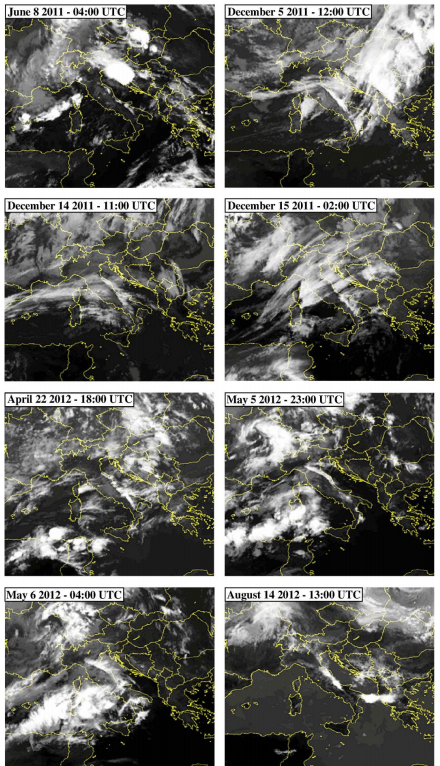 Twenty-four separate examples of linear-cloud formations over Italy (January 2010 to December 2013), including the instance for 22 April 2012 that Guangmeng and Jie (2013) claim led them to predict the M = 6.0 Earthquake on 20 May 2012