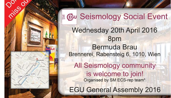 EGU GA 2016 Seismology social evening